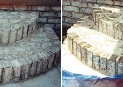 Teinture de marches en pierre à Ottawa avant/après - Teinture Héritage à Lemoyne